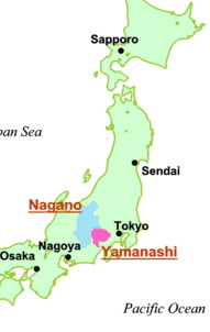 Japanese Alps Map - Japan map yamanashi