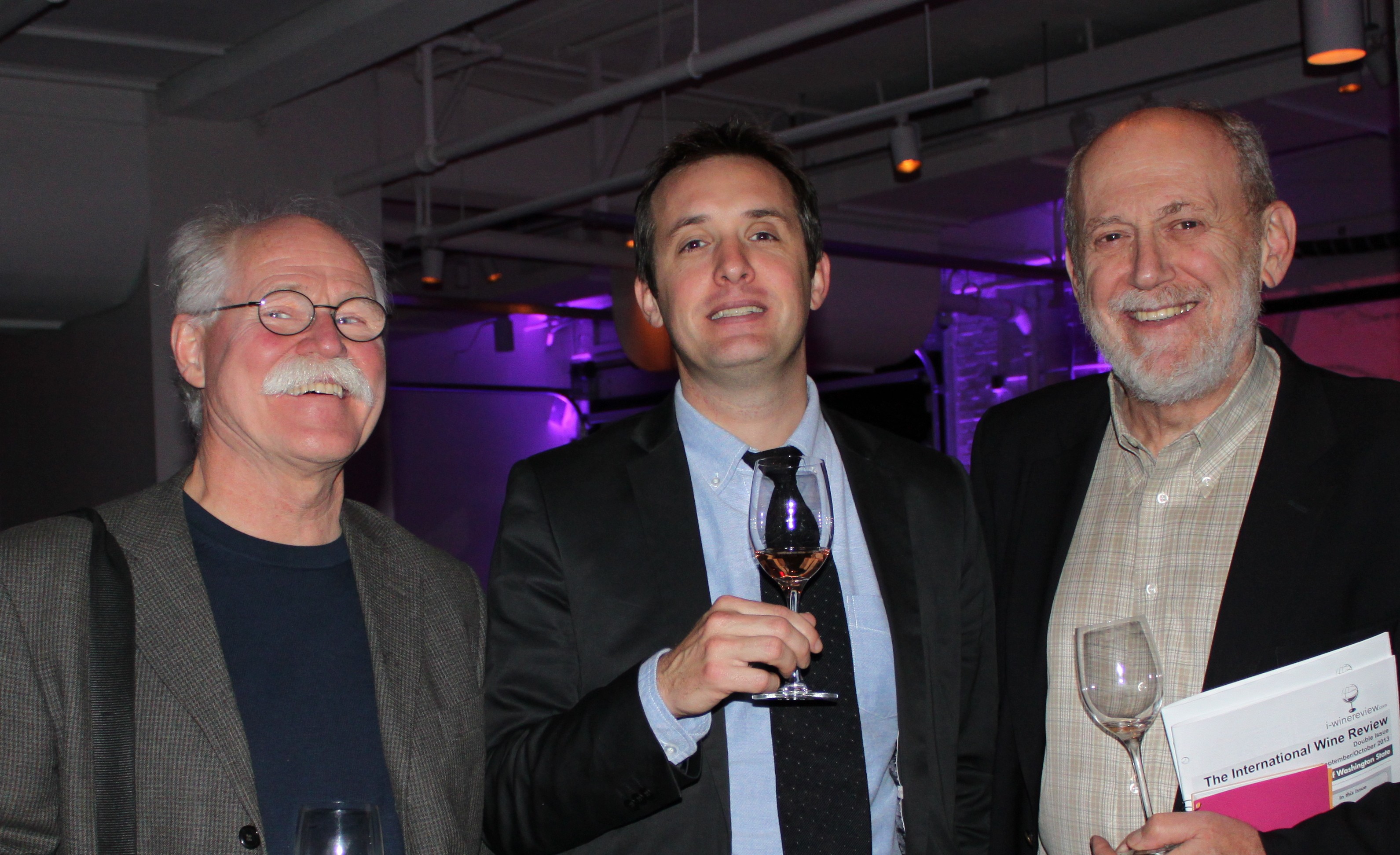 Pierre Casenave (center) with Don Winkler (l) and Mike Potashnik (r)
