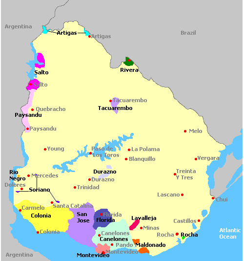 Uruguay Karte.Introduction To The Wines Of Uruguay I Winereview Articles