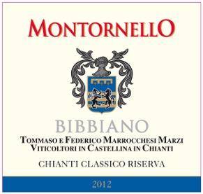 Montornello 2012 Front Label