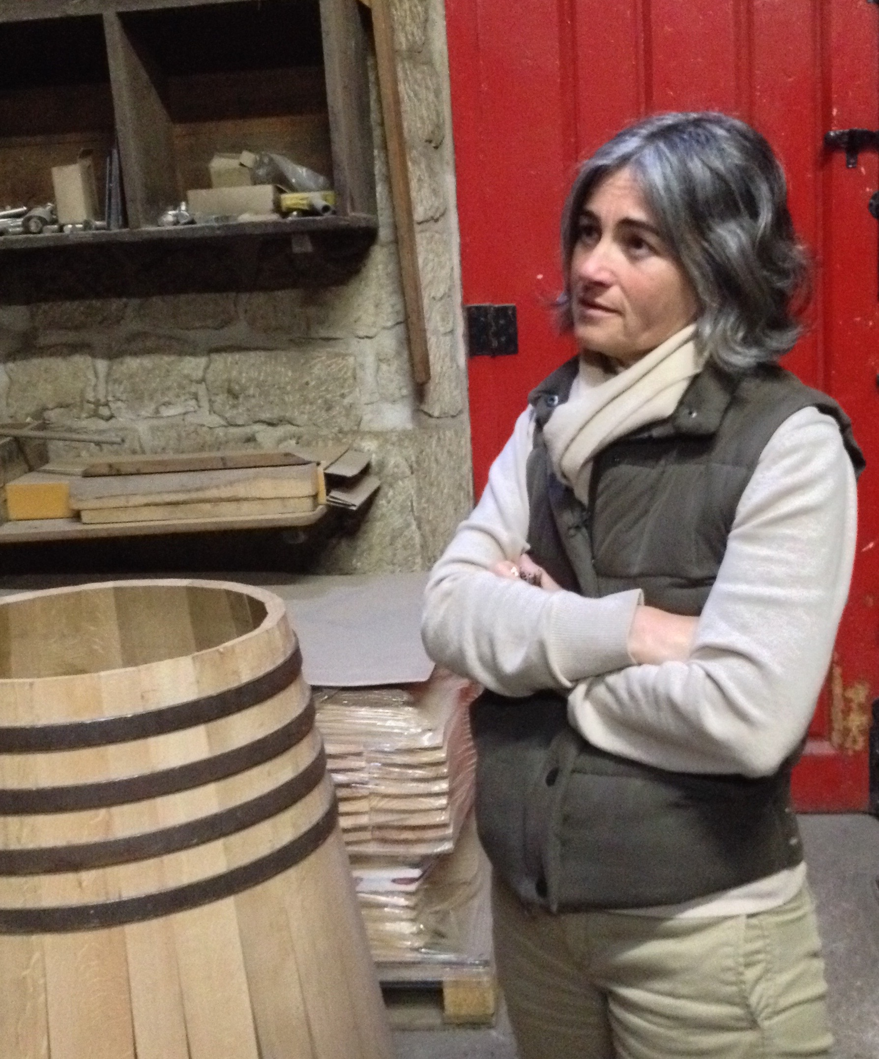 Maria Jose shows how Lopez Heredia makes its own barrels