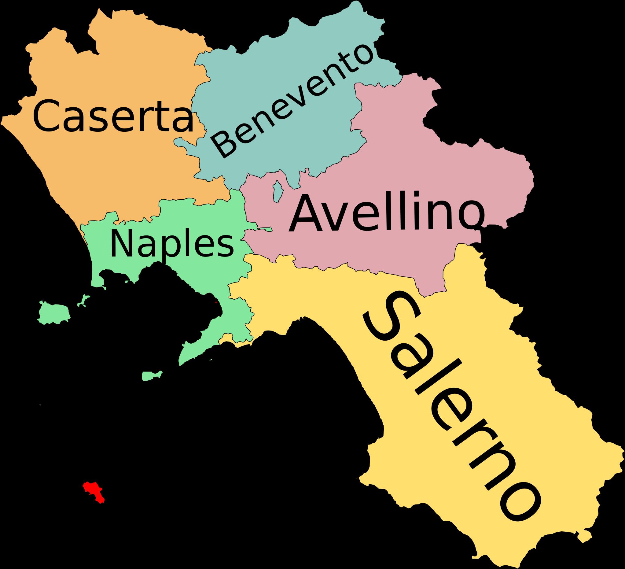 Campania and its Provinces