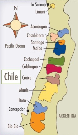 CHILE Chile Map