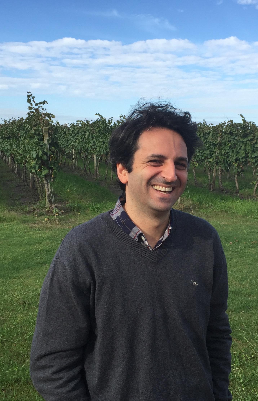Juan Andrés Marichal in front of his Vineyard