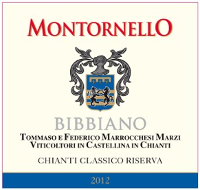 Montornello 2012 Front Label