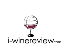 i-winereview.com logo - wine glass that looks like a globe